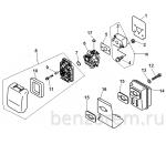 Воздушный фильтр, глушитель, карбюратор на ECHO GT-22GES