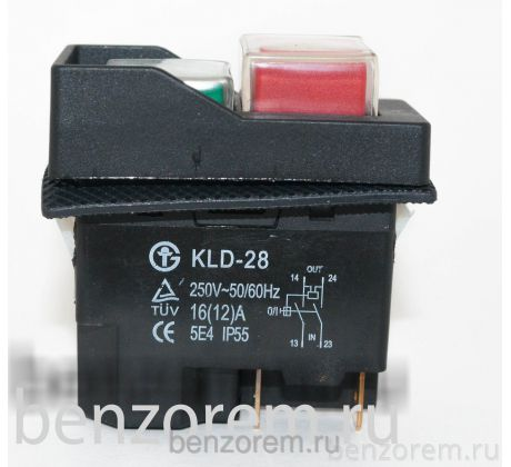 Кнопка включения для бетономешалки DKLD DZ-6 4 контакта